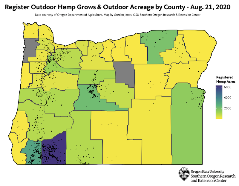 Oregon hemp map 2020